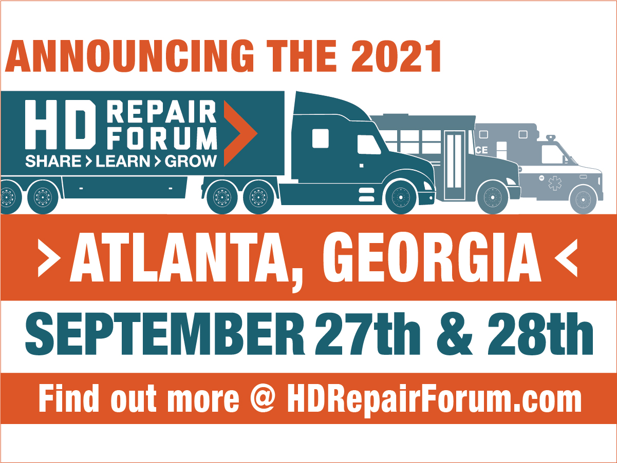 HD Repair Forum to Offer Fall Event, Co-Locates with the North American Commercial Vehicle Show in Atlanta